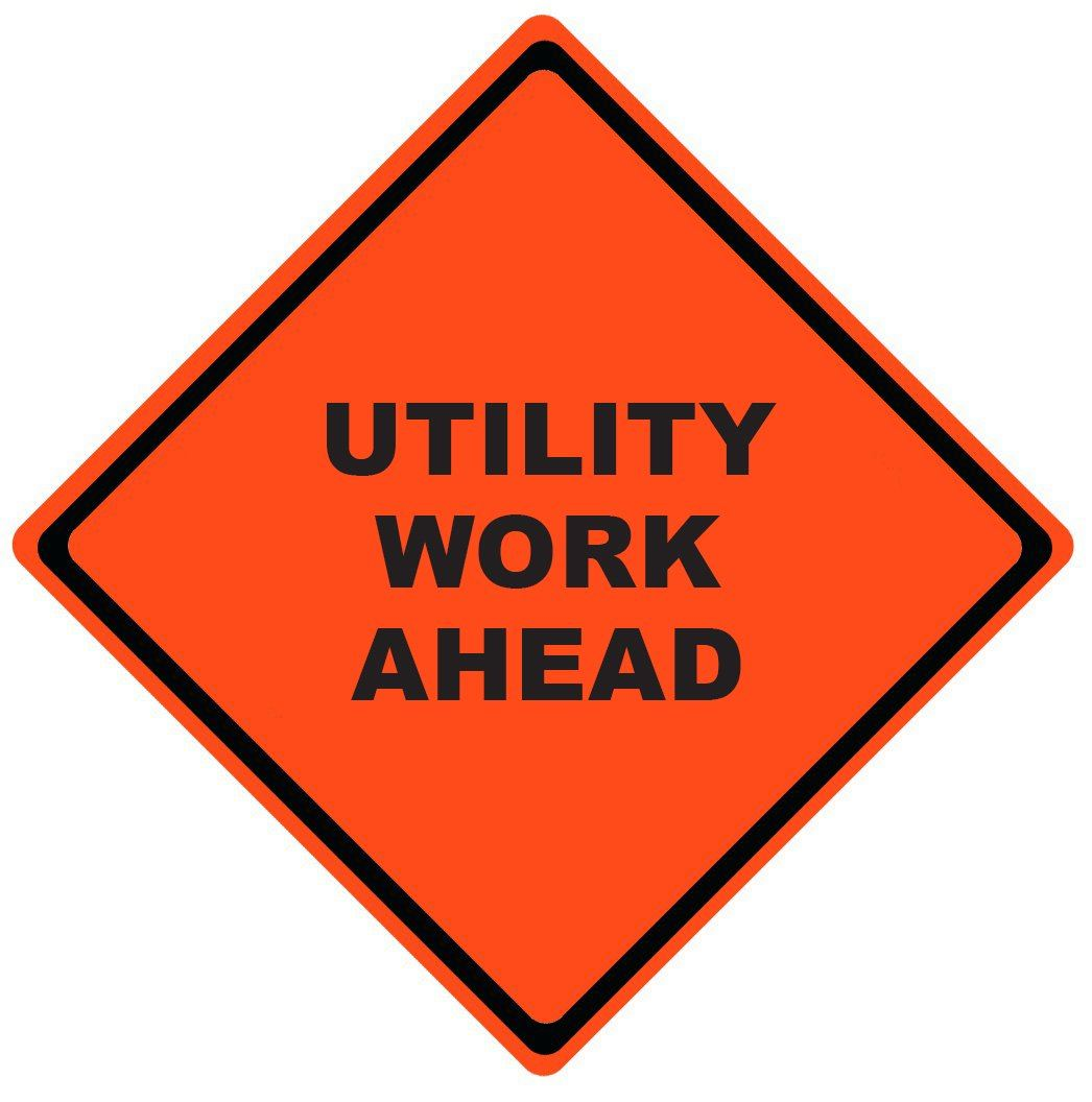 utility work ahead